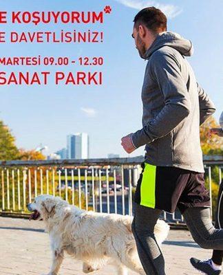 Köpeğimle koşuyorum